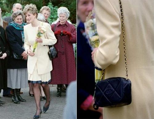 Принцесса Диана с сумкой от Шанель