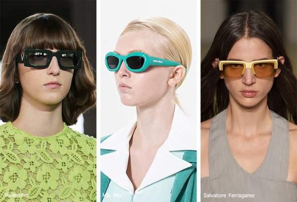 Модные летние очки с цветной оправой