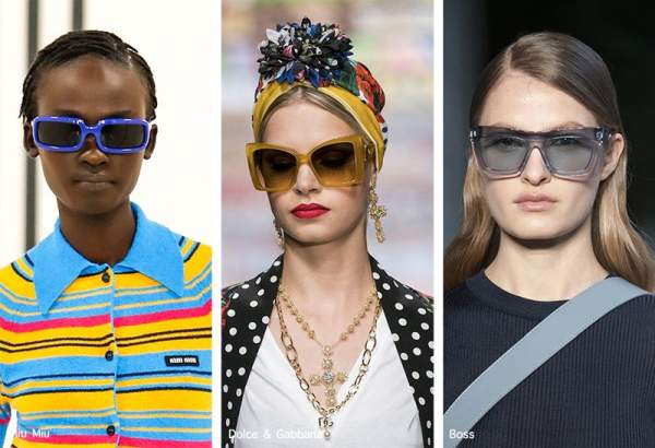 Очки с разноцветными оправами из коллекций Miu Miu, Dolce & Gabbana, Boss