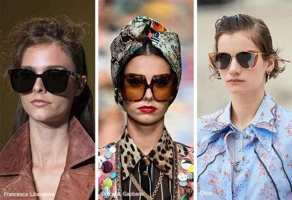 Модные солнцезащитные очки - с большой оправой