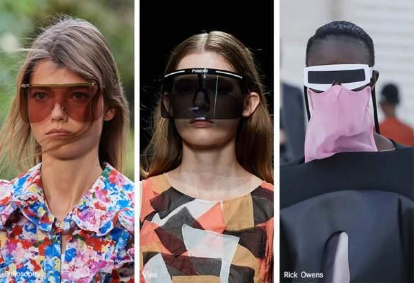 Модные очки весна-лето 2021 - в виде щитка