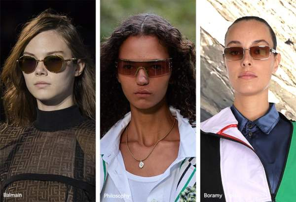 Модные очки 2021 с коричневыми линзами