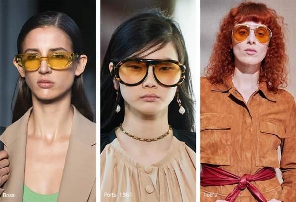 Женские солнцезащитные очки с желтыми стеклами