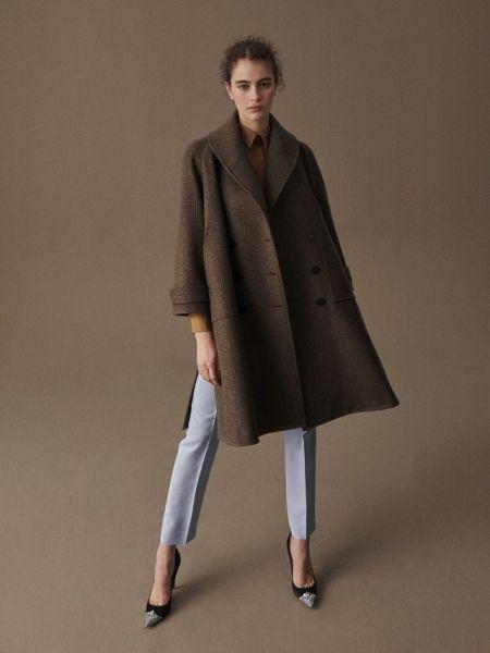 Широкое пальто с разрезами от Delpozo