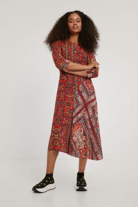 Легкое платье с геометрическим рисунком Desigual