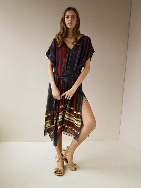 Платье-пончо в полоску от Hoss Intropia