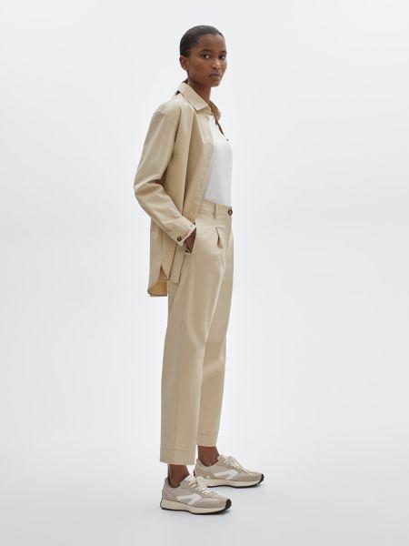 Светлый женский брючный костюм Massimo Dutti