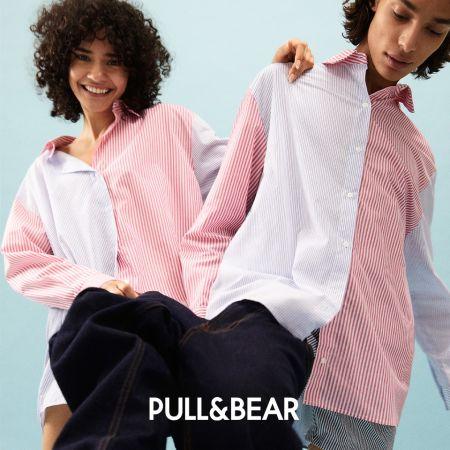 Розово-белая рубашка в полоску от Pull & Bear