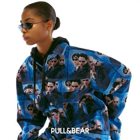 """Джинсовая куртка с героями из """"Матрицы"""" Pull & Bear"""