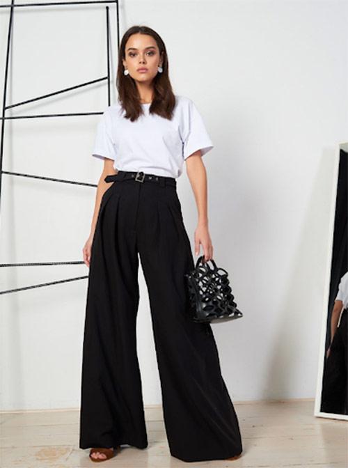 Широкие брюки женские
