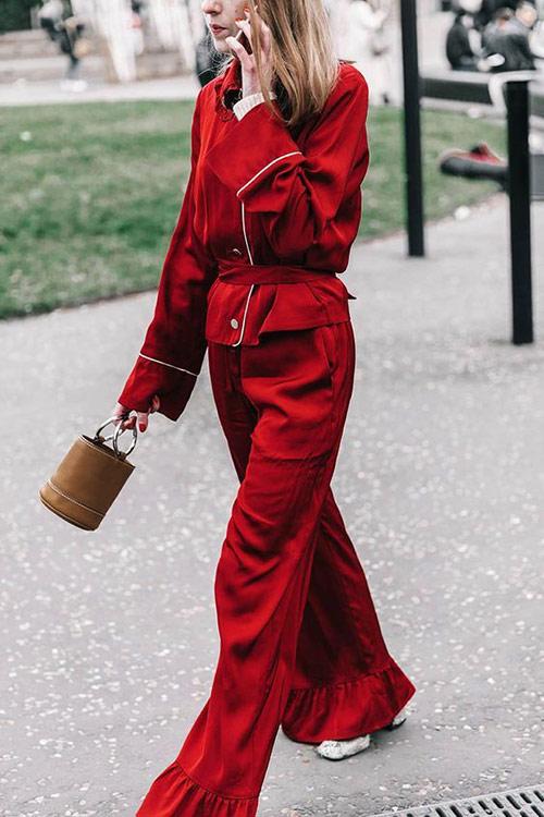 Костюм летний женский в пижамном стиле