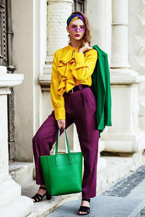 Желтый, фиолетовый и зеленый - прекрасное сочетание