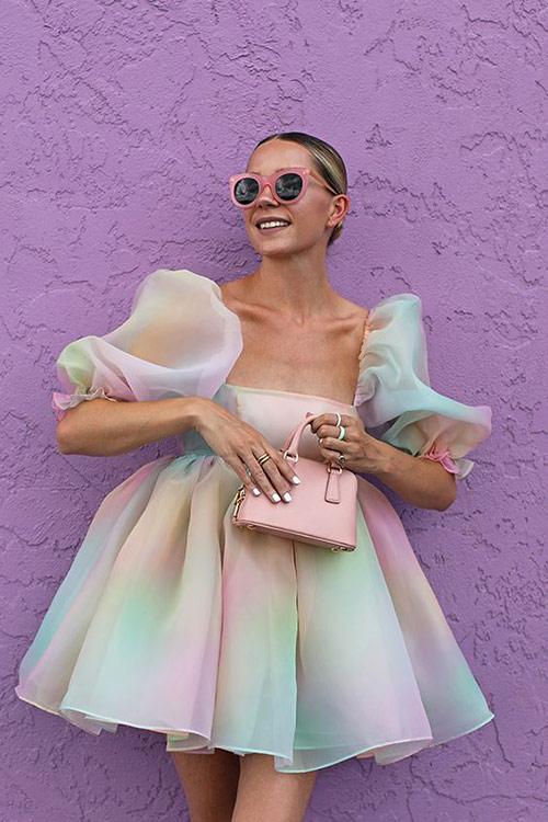 Шифоновое платье для лета 2021