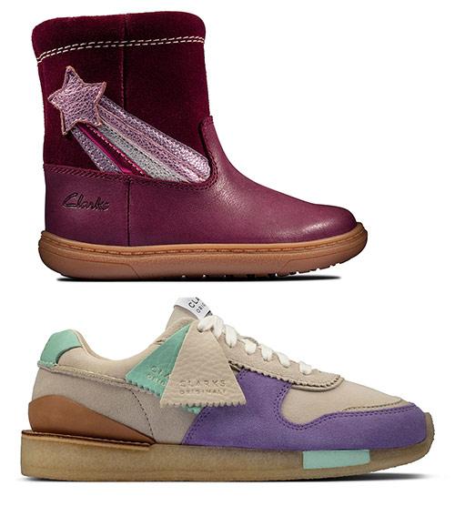 Детская и женская обувь Clarks. Сапоги детские на распродаже - £28, кроссовки - £170