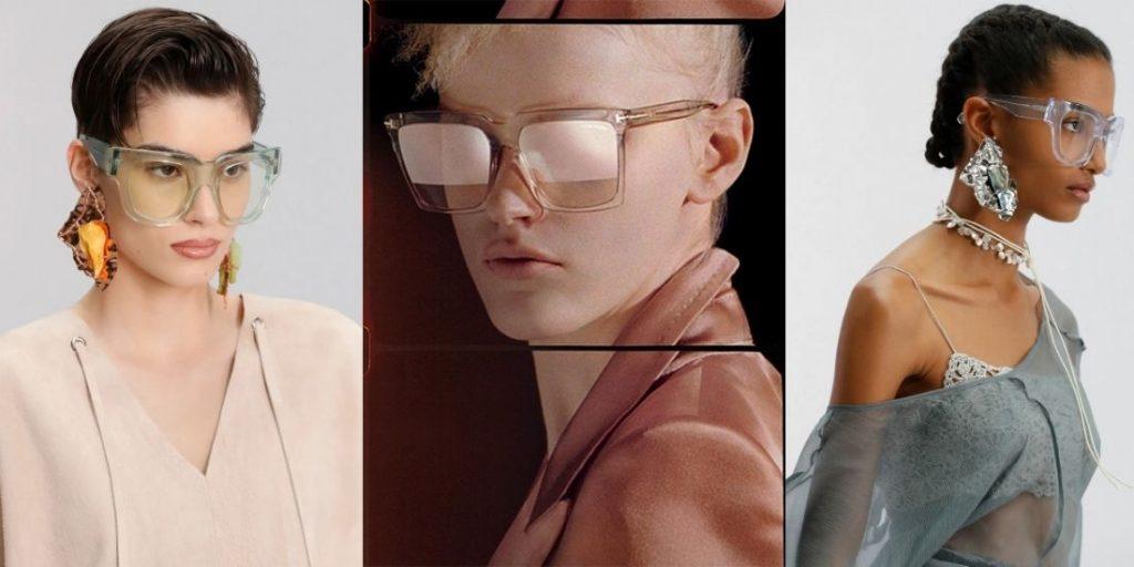 актуальные очки прозрачные маски весна-лето 2021