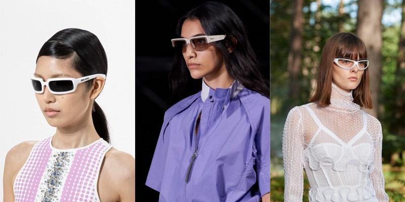 модные очки в белой оправе 2021