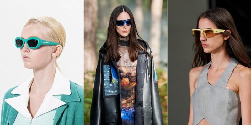 модные очки в цветной оправе 2021