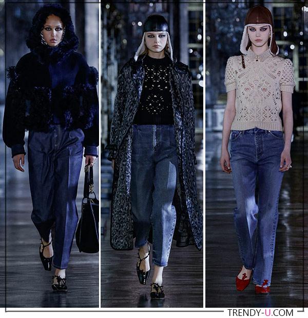 Прямые джинсы и джинсы с высокой посадкой от Christian Dior