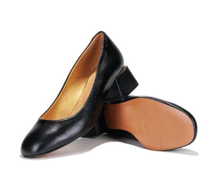 Черные туфли с квадратным каблуком Mida