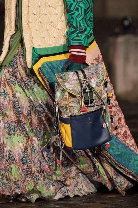Рюкзак Chloé в бохо стиле