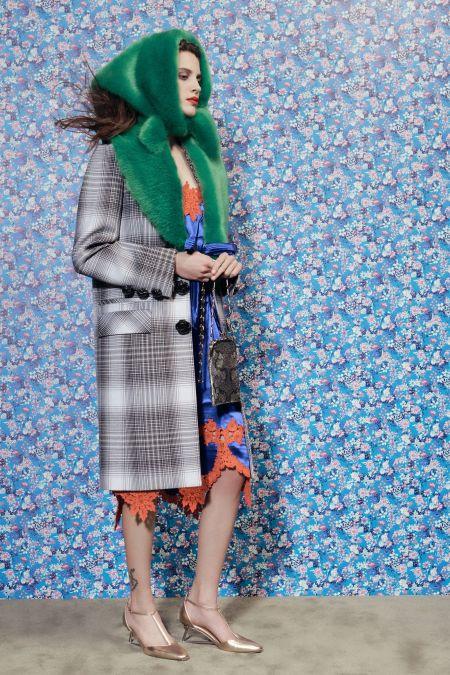 Модный зимний меховой платок