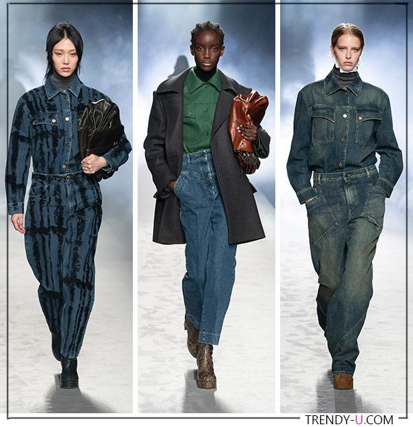Модная одежда из денима от Alberta Ferretti