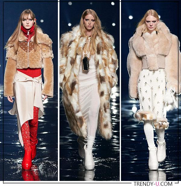 Шуба и куртки из искусственного меха Givenchy
