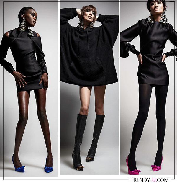 Маленькие черные платья из коллекции Tom Ford FW 2021-2022