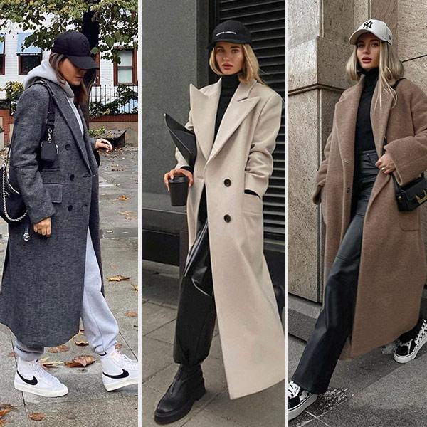 Кепка и пальто: как носить модно