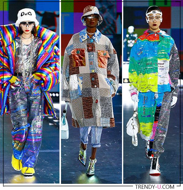 Яркие принты в коллекции Dolce & Gabbana FW 2021