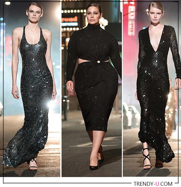 Черные платья в осенне-зимней коллекции Michael Kors 2021