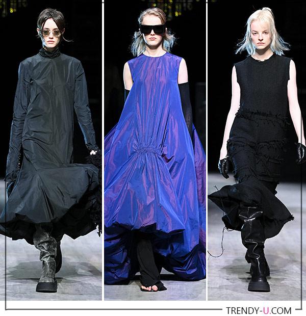 Модные платья с оборками из коллекции Sportmax осень-зима 2021-2022
