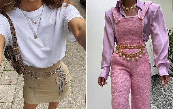 Элемент стиля одежды двухтысячных - ремни и цепи