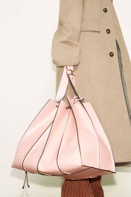 Объемная розовая сумка-гармошка Tods