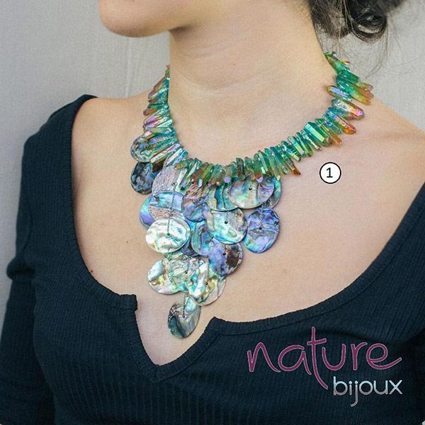 Потрясающие ожерелье из галиотиса от Nature Bijoux