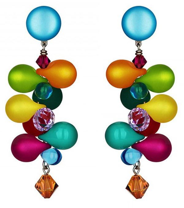 Серьги из венецианского стекла и кристаллов привнесут яркость в вашу повседневность