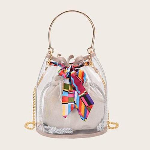 Твилли на прозрачной сумочке: красиво, когда красиво