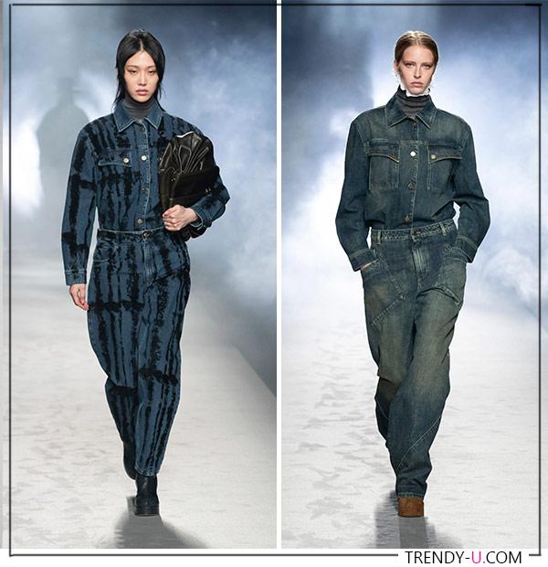 Модный образ в стиле Total Denim 2021
