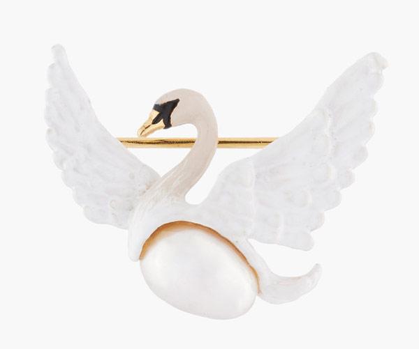 Брошь из коллекции «Лебеди»
