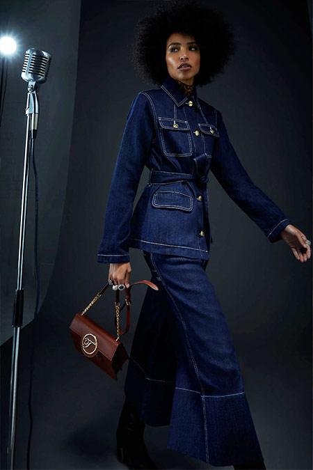 Джинсовый костюм темно-синего цвета от Temperley of London