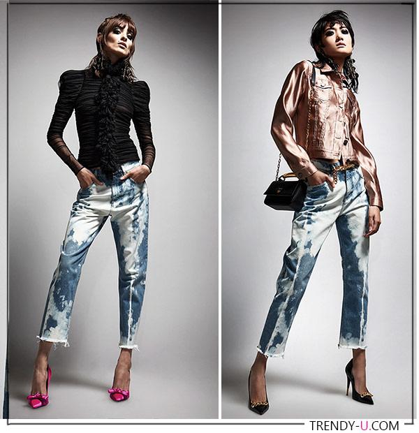 Укороченные джинсы в стиле 90-х 2021-2022