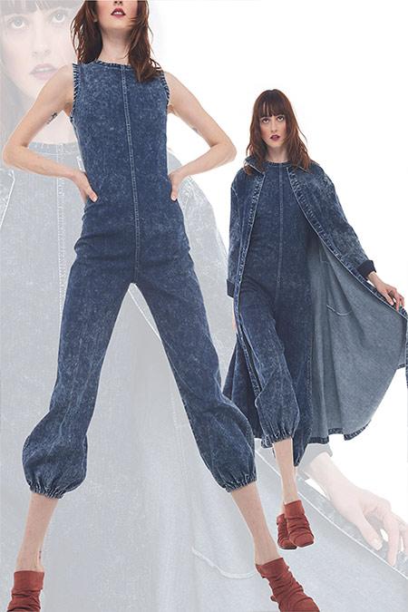 Модные джинсовые комбинезоны и тренч 2021