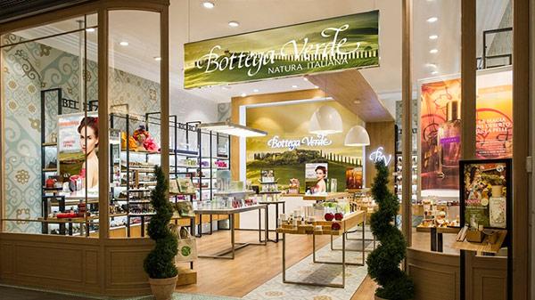 Один из первых магазинов марки Bottega Verde в Италии