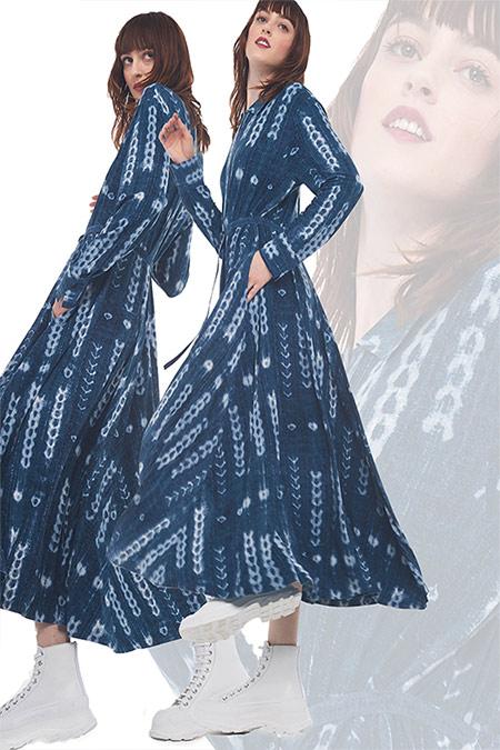 Модные платья из денима макси 2021