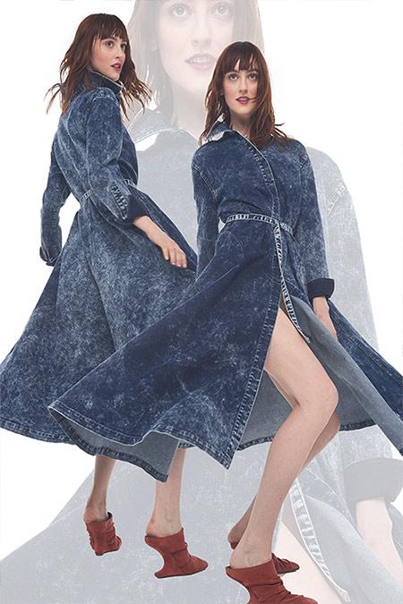 Модные джинсовые платья сезона осень-зима 2021-2022