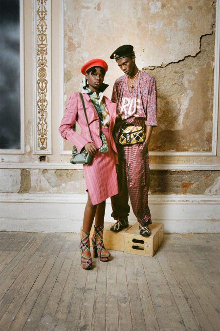 Ботинки в клетку из коллекции осень 2021 Vivienne Westwood