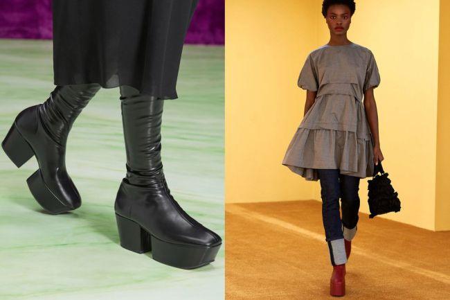 Обувь с массивной подошвой - модная модель сезона осень-зима 2021