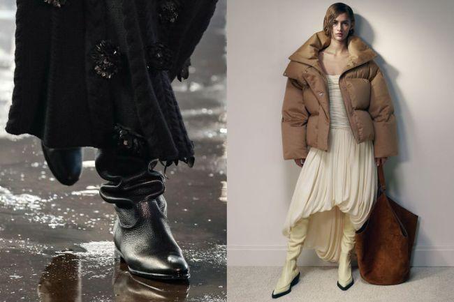 Модные сапоги 2021 - с голенищем гармошка