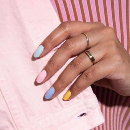 Модная форма ногтей осень 2021 - миндалевидная