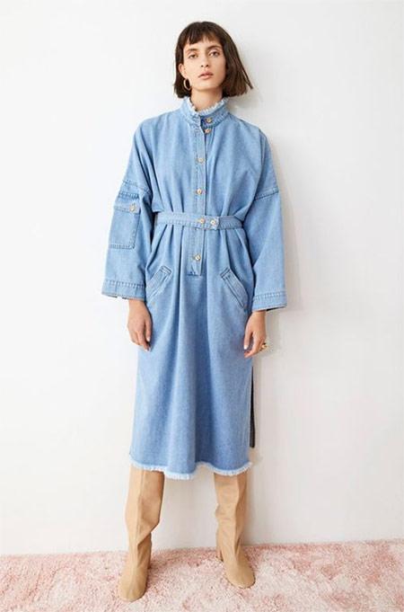 Джинсовое платье в стиле 90-х